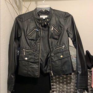 NY&Co leather motto jacket